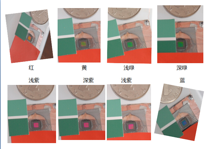 The Reflective Single pixel of YuanseTech can display kinds of colors successfully